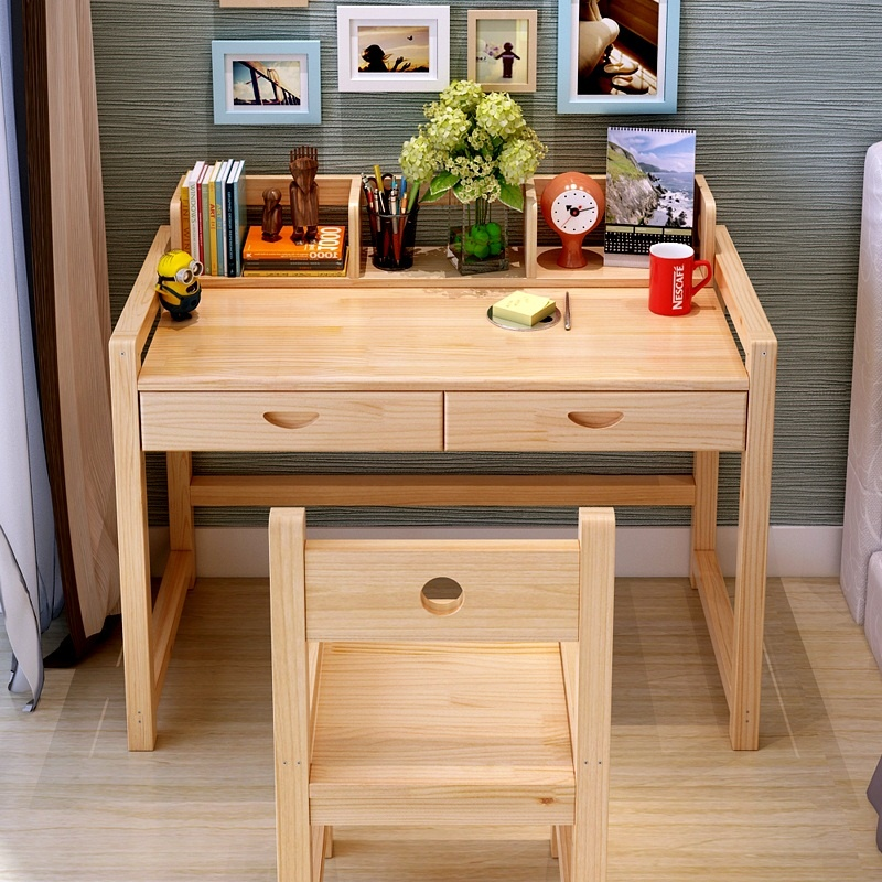 bàn ghế học sinh gỗ tự nhiên